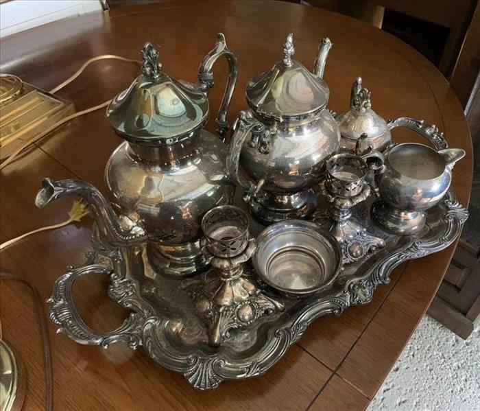 Vintage Silver Planters and Teapots