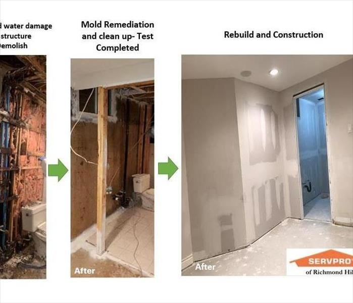 Water Damage cuased mould growth in the basement