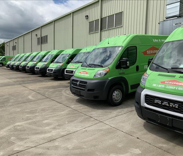 SERVPRO Water Damage Clean up vehicles are ready to help you