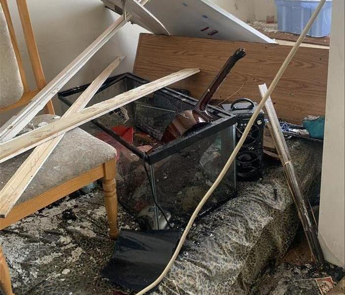Fire Damage in the rental unit west of Toronto